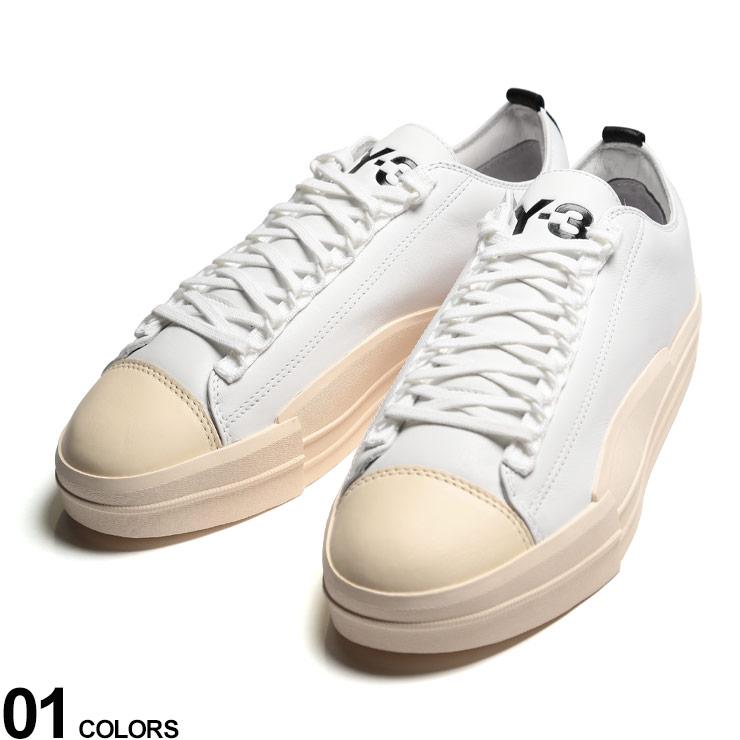 Y-3 (ワイスリー) レザー ロゴ ローカットスニーカー YUBEN LOWブランド メンズ 男性 シューズ 靴 スニーカー レザースニーカー アディダス スポーツ ストリート Y3FX0565