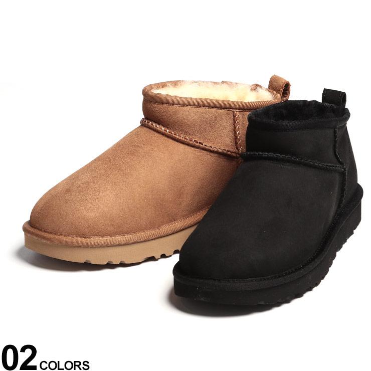 UGG Australia (アグオーストラリア) シープスキン ウルトラショート ムートン ブーツ CLASSIC ULTRA MINIブランド レディース シューズ 靴 ブーツ ショート ムートン 秋 冬 防寒 暖かい レザー UGGL1116109