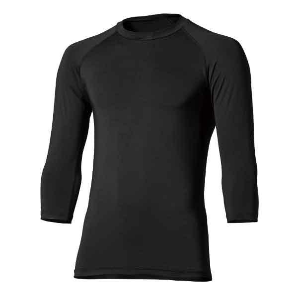 COMPRESSION SHIRTS 1 【BODY TOUGHNESS】冷感・消臭パワーストレッチ 7分袖 クルーネックシャツ JW-629