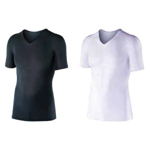 COMPRESSION SHIRTS 2 【BODY TOUGHNESS】冷感・消臭パワーストレッチ 半袖Vネックシャツ