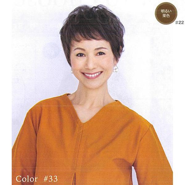 HW-001ハーフウィッグソフトカール#22明るい栗色 【BS】