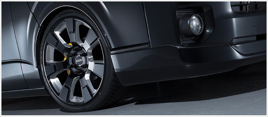 【エセックス】ESSEX代表作!コストパフォーマンス抜群!TYPE-ESホイール!4本セット販売適合車種:ハイエース200系 1~4型後期 標準ボディ/ワイドボディ/ガソリン/ディーゼルサイズ:16インチ 6.5J+38 保安検査適合サイズ