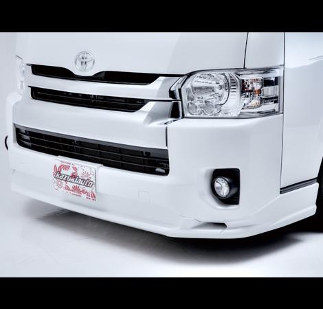 舞杏 BUAN フロントハーフスポイラー塗装済み対応車種:ハイエース4型ワイドボディー
