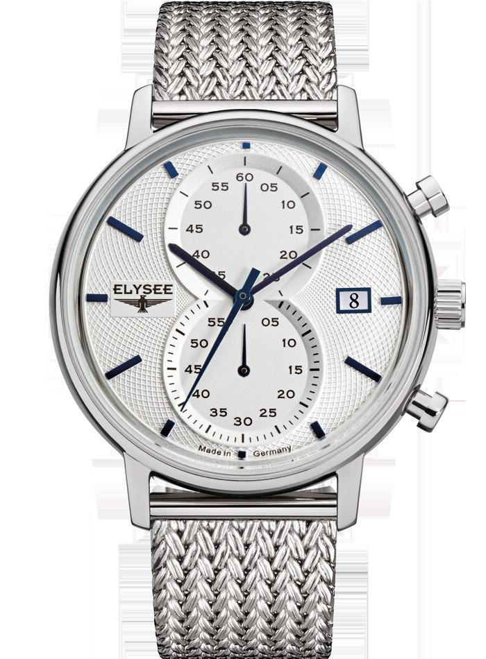 ELYSEE エリーゼ ドイツ 腕時計 クラシック レトロ MINOS 83820M メンズ クロノグラフ メッシュ