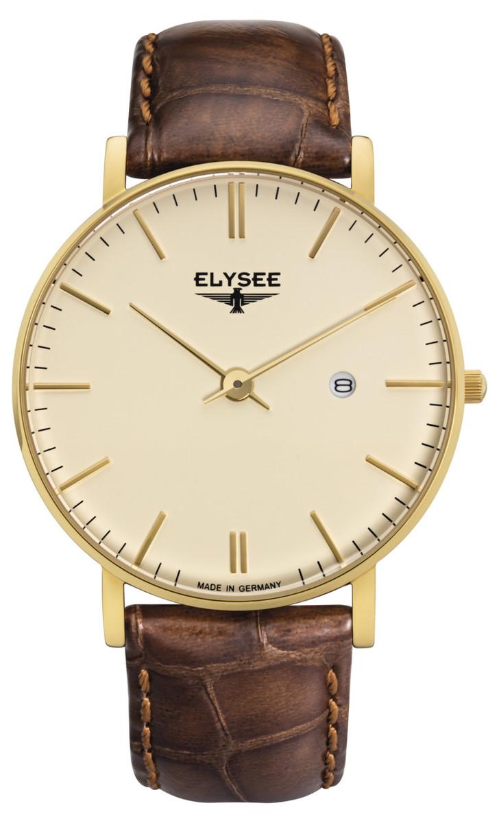 ELYSEE エリーゼ ZELOS メンズ ドイツ 腕時計 シンプル クラシック レトロ ゴールド ブラウン 98003 高品質