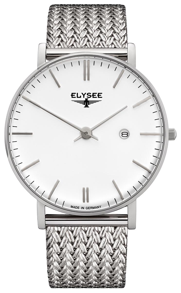 ELYSEE エリーゼ ZELOS メンズ ドイツ 腕時計 シンプル ビジネス ホワイト メッシュ 98001M 98000M 高品質 贈り物 プレゼント