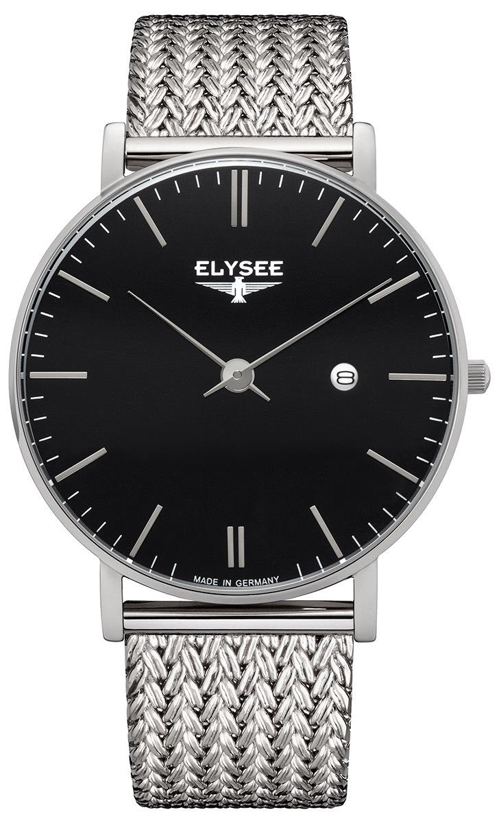 ELYSEE エリーゼ ZELOS メンズ ドイツ 腕時計 シンプル ビジネス ブラック メッシュ 98001M 高品質