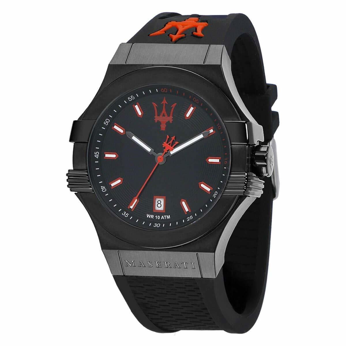 Maserati マセラティ 腕時計 POTENZA R8851108020 メンズ ブラック レッド クオーツ プレゼント 贈り物