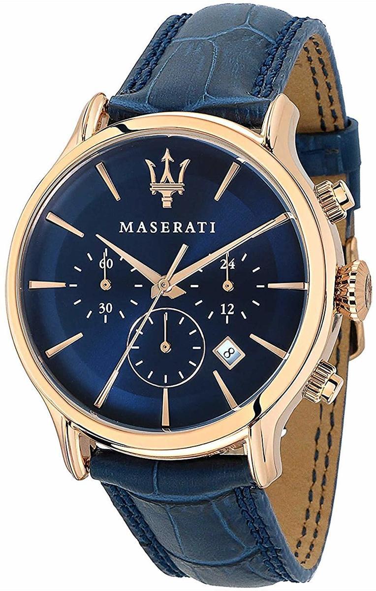 Maserati 腕時計 マセラティ epoca R8871618007 クロノグラフ ネイビー ローズゴールド メンズ プレゼント 贈り物