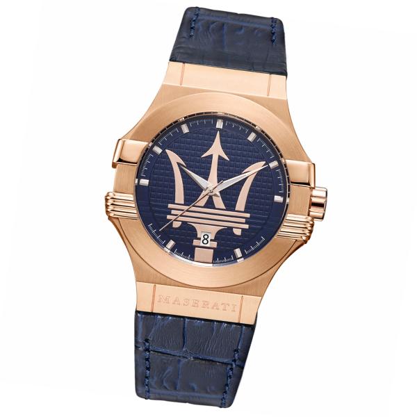 Maserati マセラティ 腕時計 POTENZA ポテンザ R8851108027 メンズ ネイビー ブルー クオーツ 青 ゴールド プレゼント 贈り物
