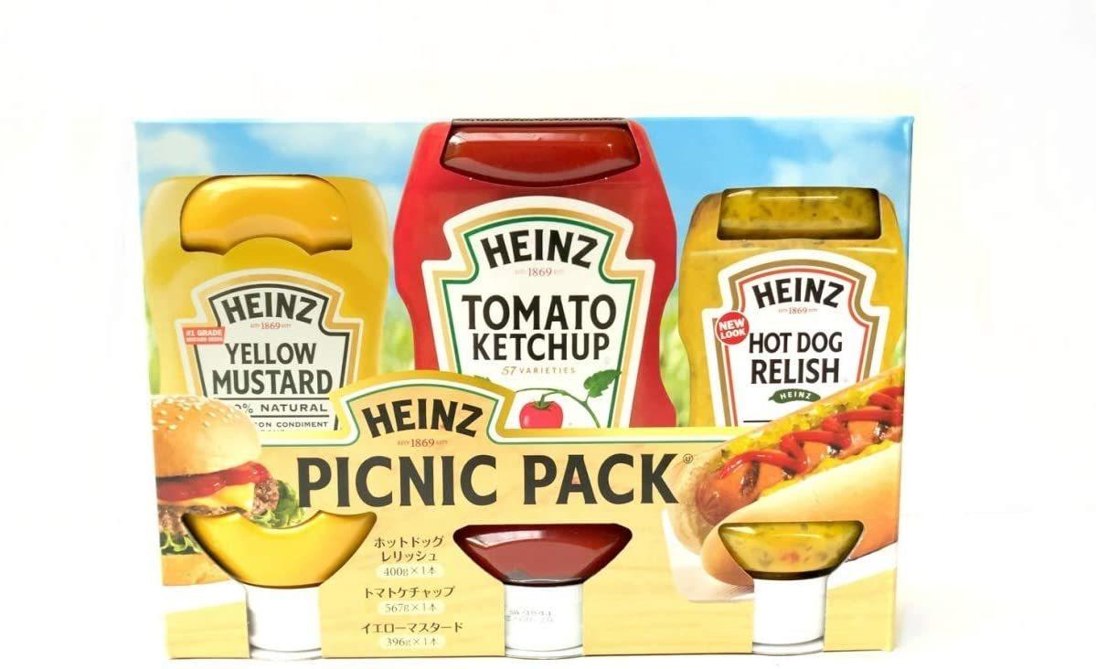 ホットドックやハンバーガーのおいしさを引き立たせます Heinz ハインツ ピクニックパック ケチャップ 567g レリッシュ マスタード 食品 コストコ ホットドッグ 商舗 通販 予約販売 375g 396g