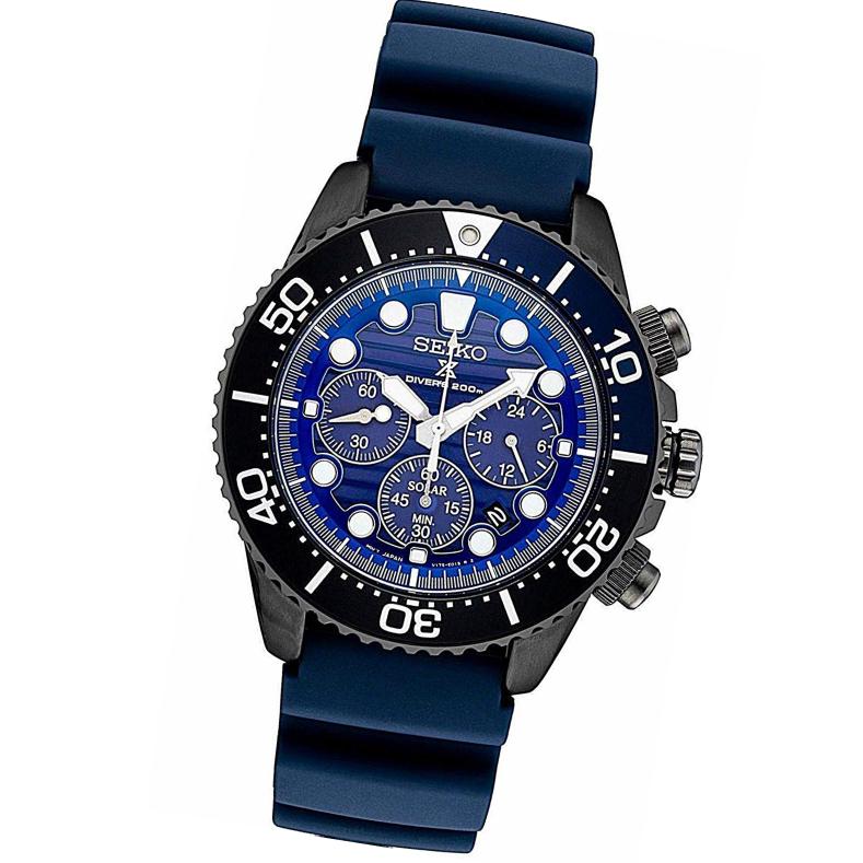 SEIKO PROSPEX セイコー 腕時計 ウォッチ メンズ 男性用 ソーラー ダイバーズ ウォッチ クロノグラフ 20気圧防水 日本製ムーヴメント ssc701p1 blue ブルー