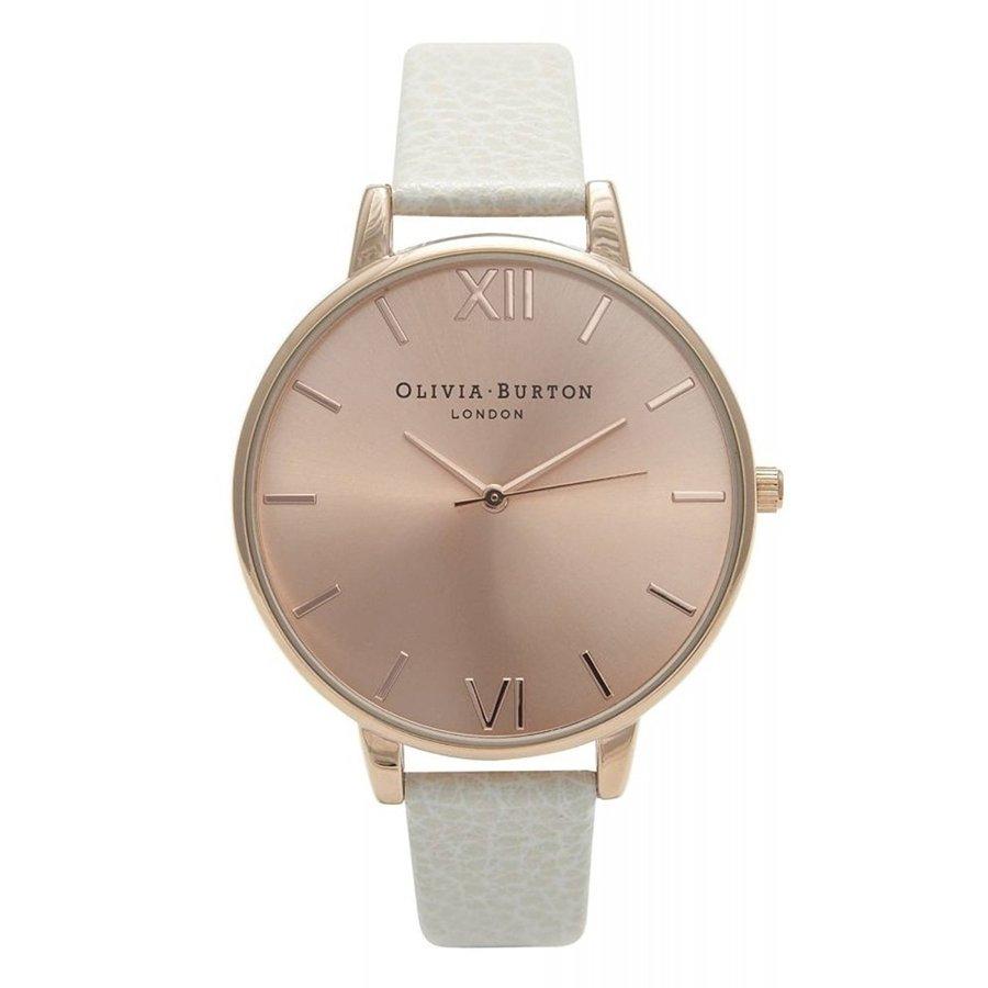 Olivia Burton オリビアバートン 腕時計 ビッグダイヤル ローズゴールド ホワイト レザー プレゼント 贈り物 OB13BD11