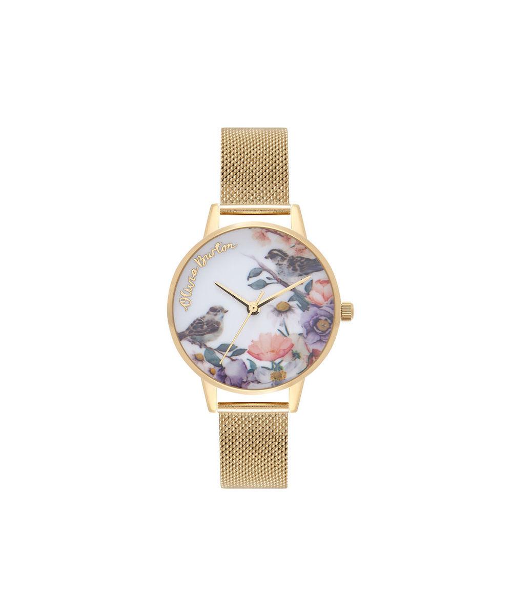 Olivia Burton オリビアバートン 腕時計 イングリッシュガーデン ゴールド メッシュ レディース OB16ER12 プレゼント 贈り物
