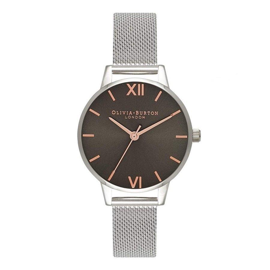 Olivia Burton オリビアバートン 腕時計 Olivia Burton オリビアバートン Midi グレー Dial Dark グレー & シルバー メッシュ ステンレス 30mm プレゼント 贈り物 OB16MD80