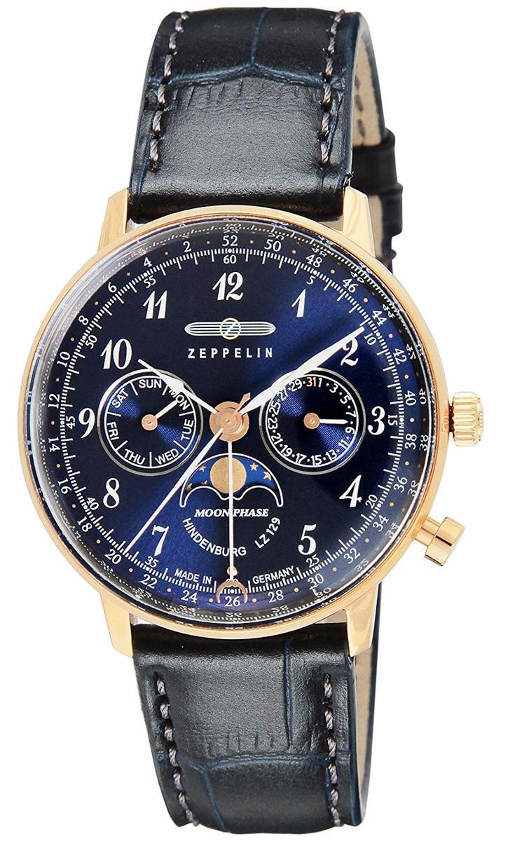 ZEPPELIN 腕時計 Hindenburg ネイビー文字盤 7039-3 メンズ レディース ユニセックス ヒンデンブルグ 贈り物 プレゼント