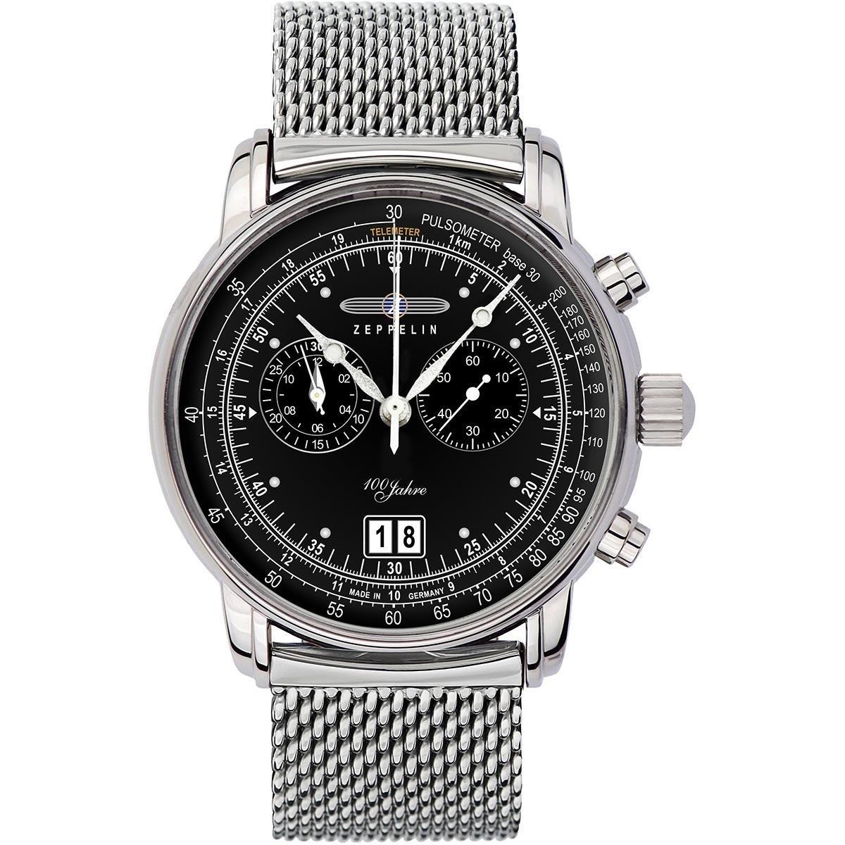 ツェッペリン ZEPPELIN メンズ スペシャルエディション 100周年記念モデル クロノグラフ シルバー ステンレス シルバー ケース 7690M-2 腕時計 贈り物 プレゼント
