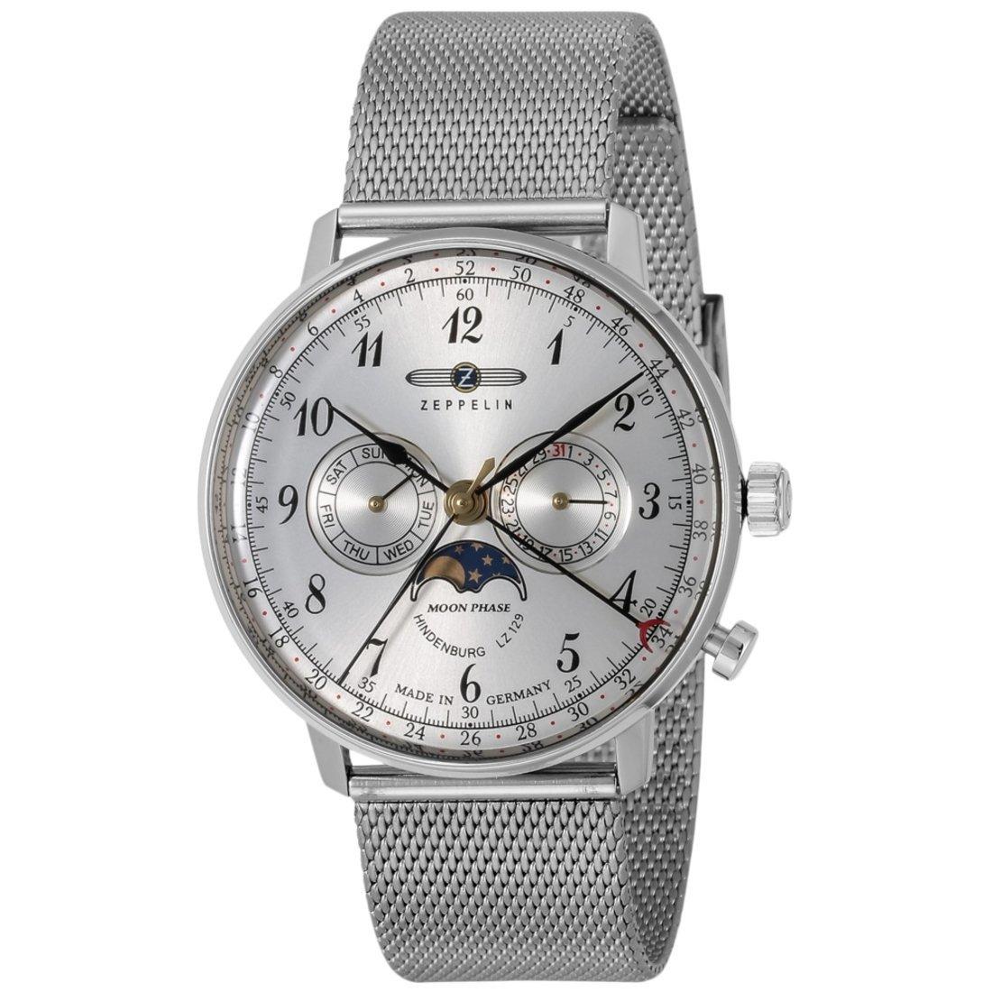 ZEPPELIN ツェッペリン ヒンデンブルク クオーツ メンズ 腕時計 7036M-1 シルバー 腕時計 贈り物 プレゼント