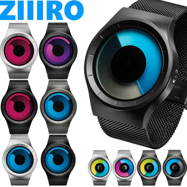 ZIIIRO ジーロ 腕時計 CELESTE セレステ MERCURY マーキュリー ブラック モノ 黒 青 カラフル プレゼント 贈り物 個性的 デザインウォッチ メンズ レディース ユニセックス ペア おしゃれ Z0005 Z0002 ドイツ 時計