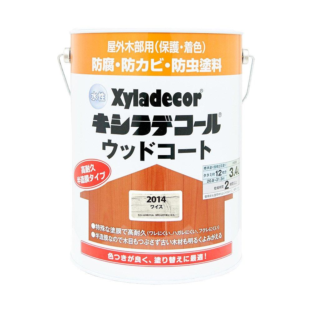 【あす楽対応・送料無料】カンペハピオ水性キシラデコールウッドコートワイス3.4L