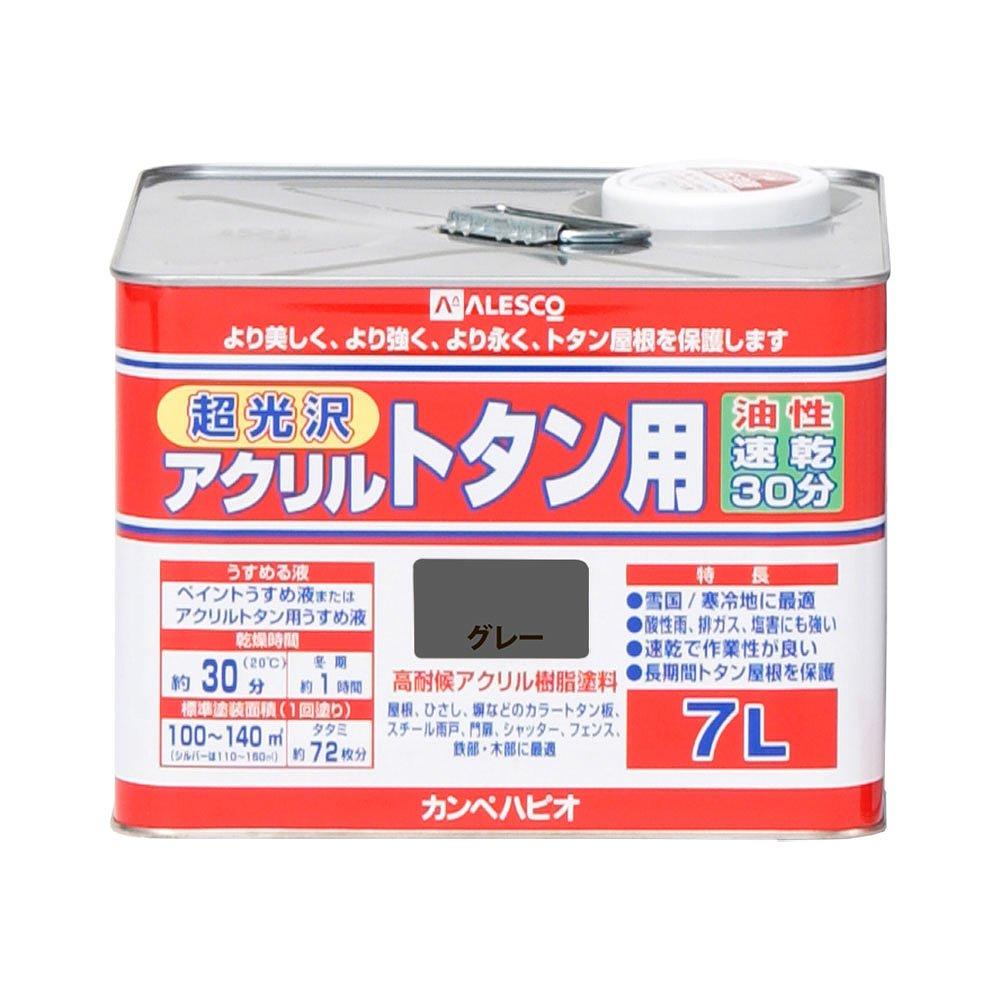 【あす楽対応・送料無料】カンペハピオアクリルトタン用グレー7L