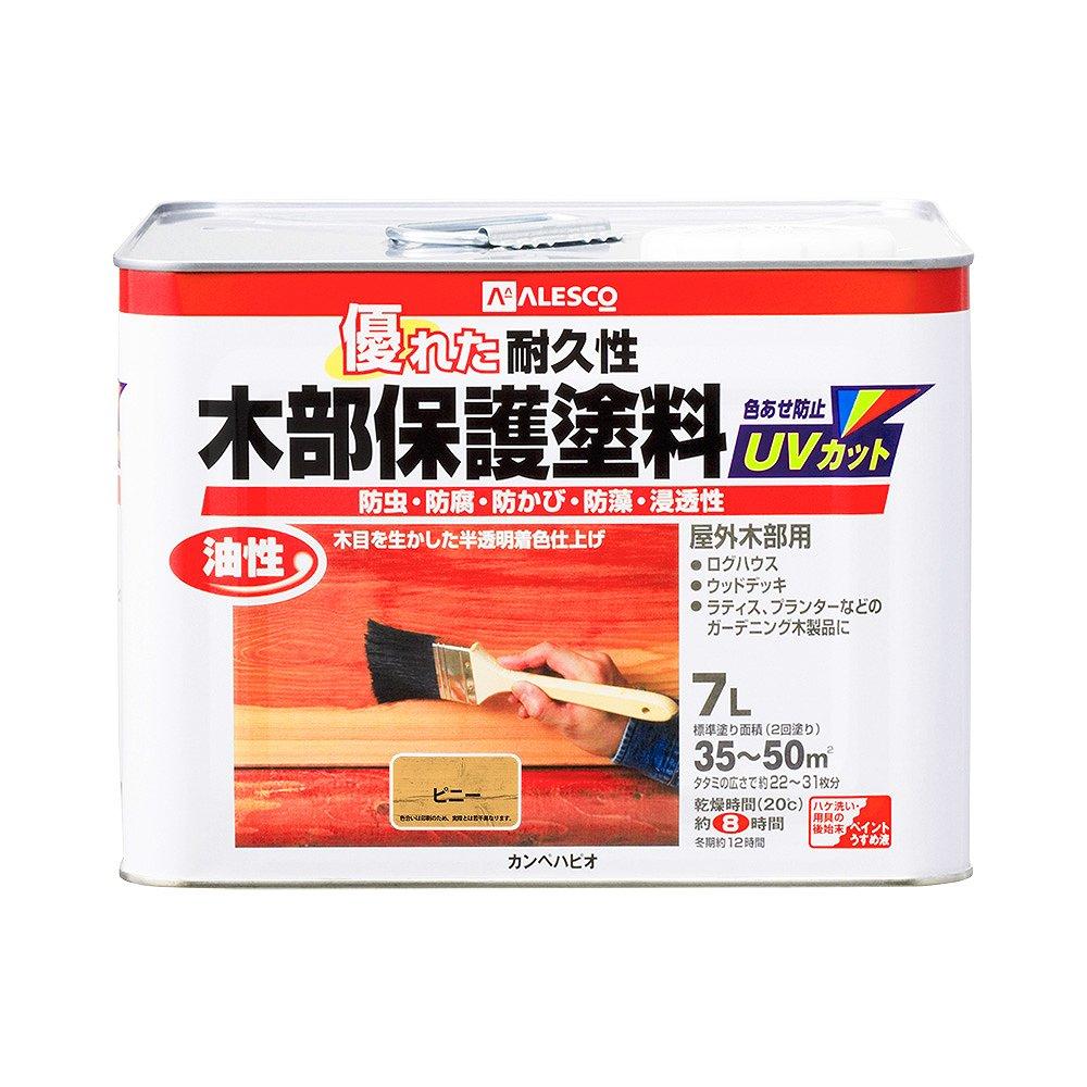 【あす楽対応・送料無料】カンペハピオ油性木部保護塗料ピニー7L