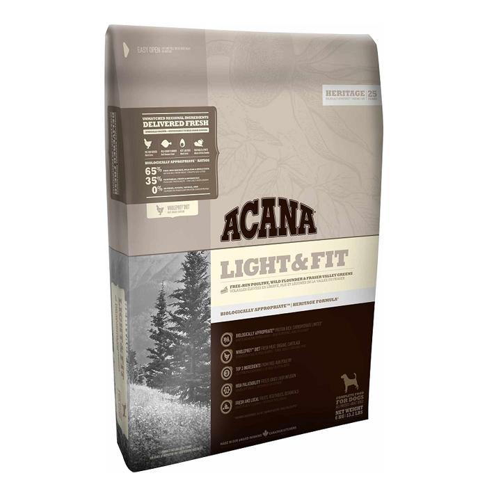 高たんぱく低炭水化物 元産新鮮鶏肉 卵 魚肉を使用 メイルオーダー 正規品 ACANA アカナ 犬 11.4kg 餌 ダイエット 体重管理用 秀逸 ライトフィット ドッグフード