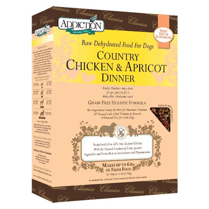 愛犬の目の健康に 低温乾燥フード アディクション カントリーチキン&アプリコットディナー(チキン/アプリコット)3.6kg ドッグフード 【犬/ドッグフード/アレルギー/目】