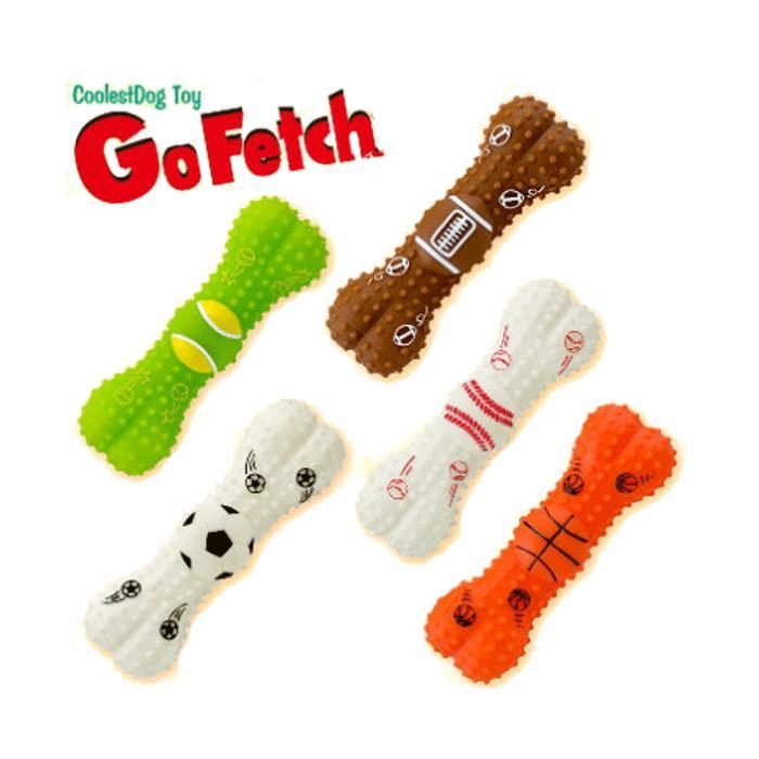 骨の形をしたスポーツボールデザインのビニール製ドッグトーイ 犬 おもちゃ 予約 骨型 鳴る Fetch ゴーフェッチ ランキング総合1位 全5種 Go スポーツボーン