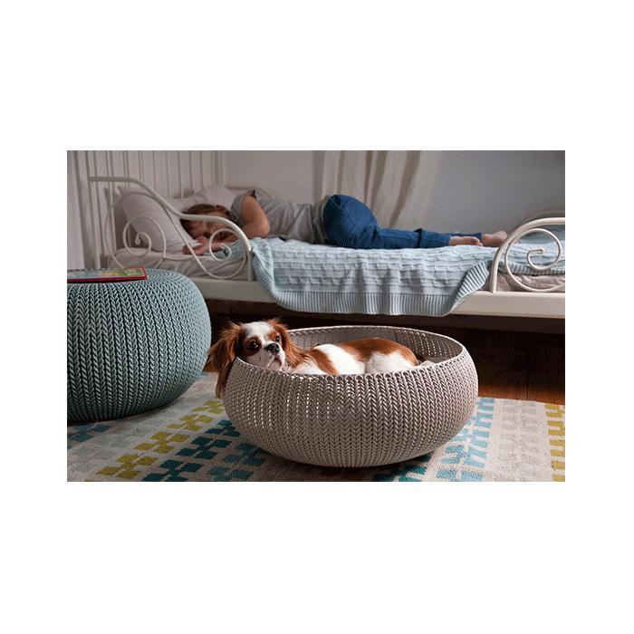 【送料無料】ニット模様のふかふかペット用ベッド KETER コージー ペット ベッド【ペット/ベッド/クッション】
