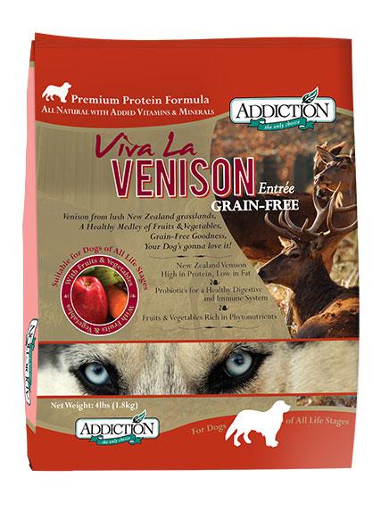 グレインフリーフード Addiction アディクション ビバ・ラ・ベニソン  鹿肉 5.4kg ドライ ドッグフード 【犬/アレルギー/皮膚/被毛/穀物フリー】