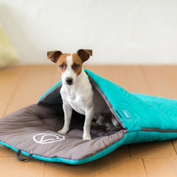 【送料無料】[まるでペットの寝袋] FADパッカブル・ベッド スカイブルー Mサイズ 【犬/猫/ベッド/折りたたみ/収納/中型犬】