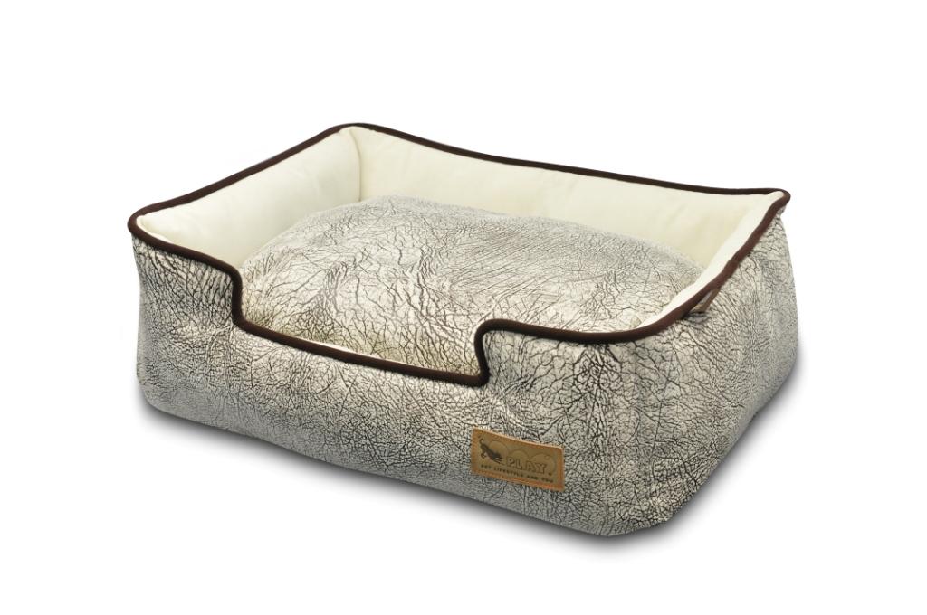 【送料無料】安心感NO1の箱型ペット用ベッド P.L.A.Y ラウンジベッド サバンナ(グレー) Mサイズ 【ペット/ベッド/クッション】