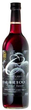 北海道で収穫されたキャンベルアーリー種を100%使用 ストロベリーを想わせる甘い香りと さわやかな酸味が特徴です 北海道100キャンベルアーリー赤 赤ワイン日本ワインGI北海道認定 開催中 ライトやや甘口 720mlはこだてわいん 函館ワイン 新品未使用