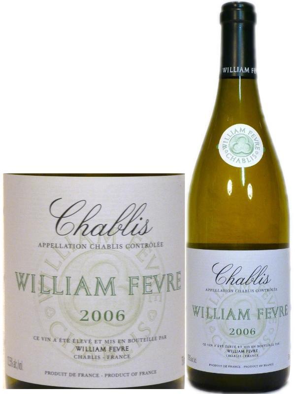 当店限定販売 フランス 白 ウィリアム 再入荷 予約販売 Fevre~Chablis 750ml~William フェーブルシャブリ