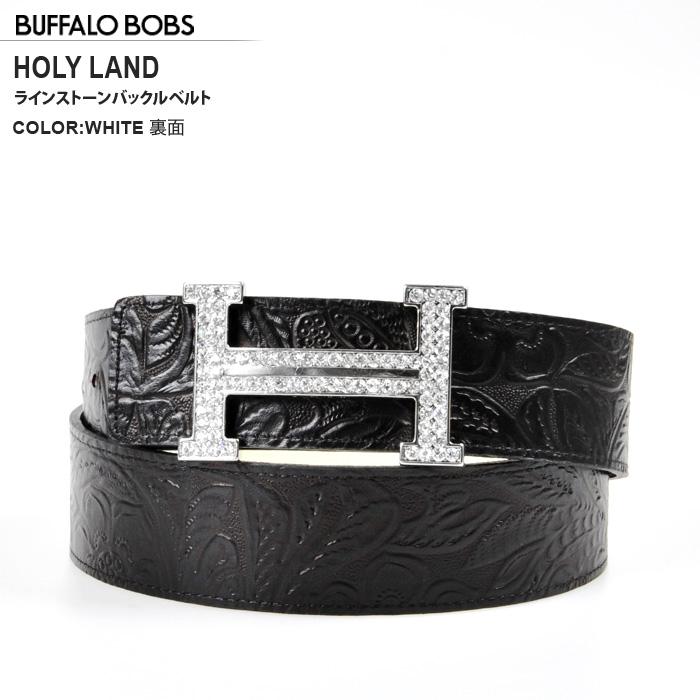 BUFFALO BOBS (バッファローボブズ) HOLY_LAND (홀리 랜드) 모조 다이아몬드 리버시 블 벨트 (4COLOR))