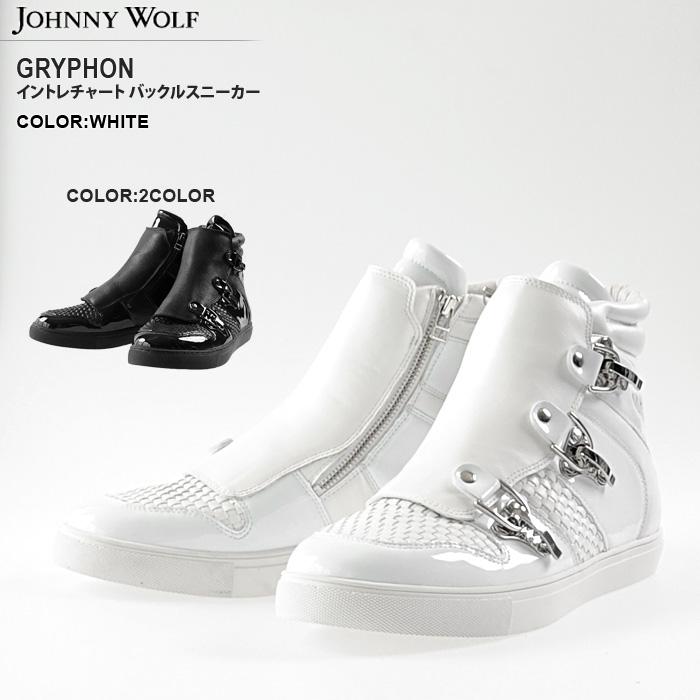 JOHNNY WOLF (쟈 니 울프) GRYPHON 인 트 차트 전환 하이 컷 스 니 커 즈 (2COLOR))