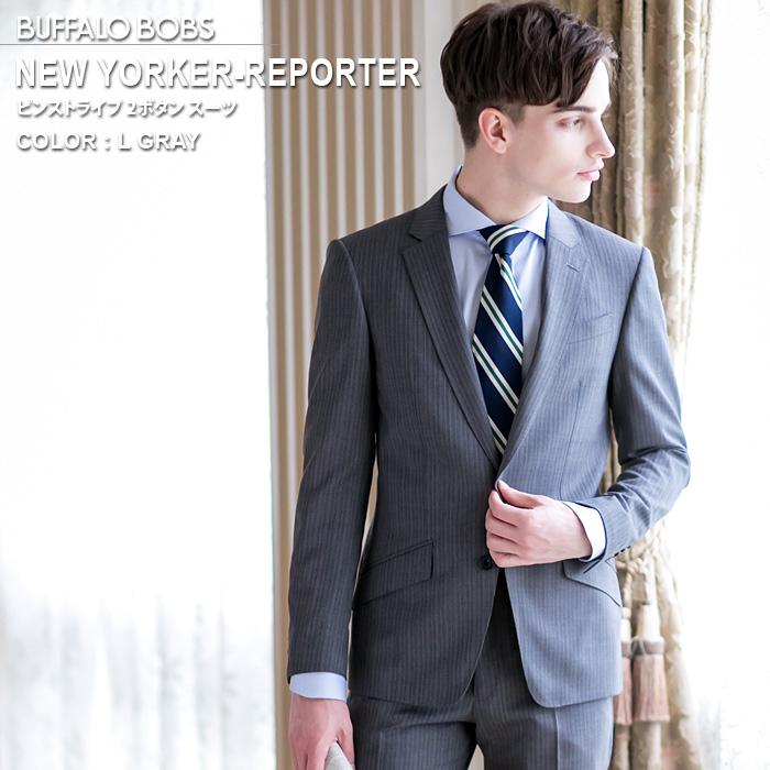 BUFFALO BOBS バッファローボブズ NEW YORKER-REPORTER(ニューヨーカー リポーター)ピンストライプ 2B スーツ