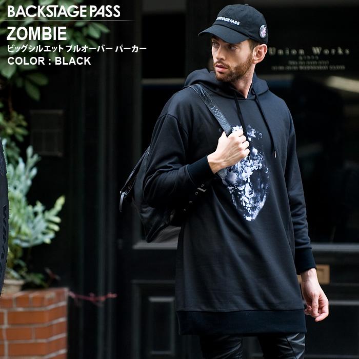 BACKSTAGE PASS バックステージパス BUFFALO BOBS バッファローボブズ ZOMBIE(ゾンビ) アシメ ビッグシルエットTシャツ