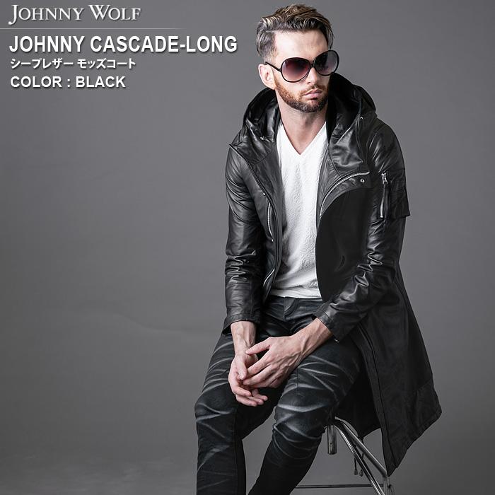 JOHNNY CASCADE-LONG(ジョニーカスケード ロング)シープレザー モッズコート JOHNNY WOLF ジョニーウルフ BUFFALO BOBS バッファローボブズ
