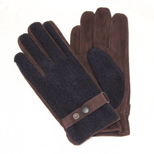 a7157b304 The Lady's adjustable size for the TALGLOVE company leather gloves handmade  leather hunting glove navy woman ...