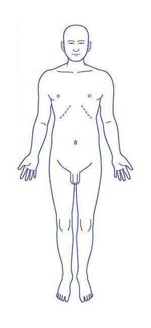 シャチハタ 医療用人体図 「全身(男性正面)」 角型印40100号(40x100mm)病院/医院/整骨院/ゴム印/スタンプ