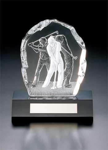 ゴルフ用オーナメント/YC-2996/クリスタルオーナメント/ゴルフ/表彰/大会/景品/賞品