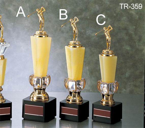 種目が選べる/トロフィーTR-2359A/高さ253mm/ゴルフ/サッカー/野球/ソフトボール/バスケットボール/テニス/陸上/バドミントン/バレーボール