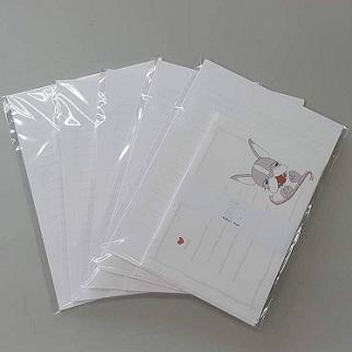 便箋6枚 封筒3枚セット ※感謝セール※ 買い物 Buhheeee's 大決算セール 自社オリジナル商品 ボストンテリア Oracho レターセット