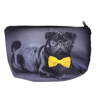 pug 黒パグ☆☆☆スタッフオススメ☆☆☆パグ ポーチ 化粧ポーチ 1着でも送料無料 プチギフト パググッズ パグ雑貨 人気商品