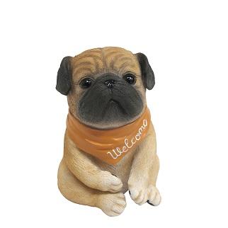 最新アイテム 2020 新作 パググッズ パグ リアルアニマル welcome ガーデニング雑貨 pug 犬 鼻ぺちゃ
