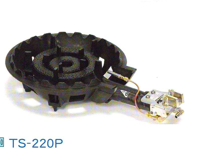 送料無料!鋳物ガスコンロセット 二重羽なし(種火付)[TS-220P]