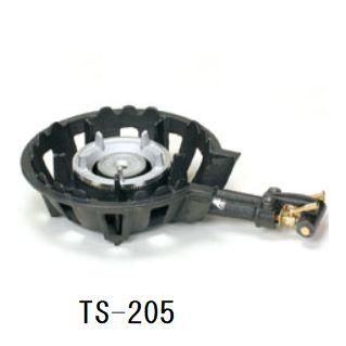 送料無料! ハイカロリー鋳物ガスコンロセット二重羽なし(種火なし)[TS-205]