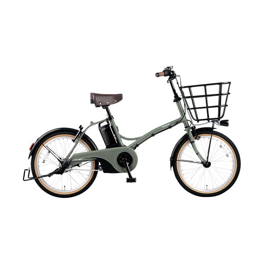 訳あり商品 自転車購入で防犯登録付 Panasonic パナソニック 電動自転車 グリッター 防犯登録付き ELGL034-G 20インチ マットオリーブ 2021年7月発売モデル SALE